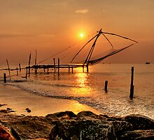Chinese Fishing Nets by ohjoeoh