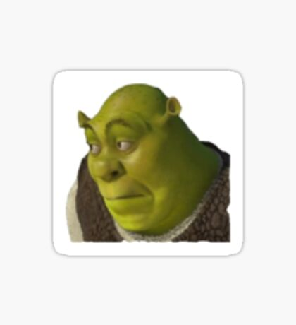 Shrek yikes face  Sticker