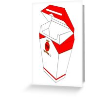 cigarette coffin Greeting Card