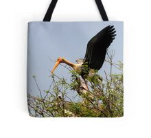 Painted Storks Tote Bag