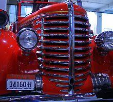 Diamond-T Fire Truck 2 by John Vandeven