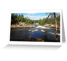 Five Finger Rapids In Autumn Greeting Card