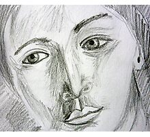 After Picasso - pencil portrait Photographic Print