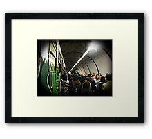 Tube Train Framed Print