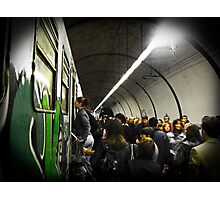 Tube Train Photographic Print