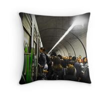 Tube Train Throw Pillow