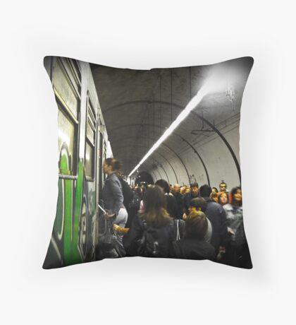 Tube Train Throw Pillow