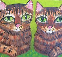 Shabby Tabbies by sharonkfolkart