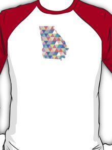 Georgia Colorful Hipster Geometric Triangles Georgia State Atlanta Athens T-Shirt