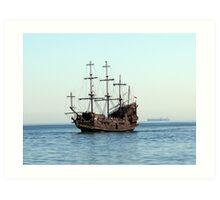lone ship Art Print