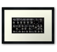 Awesome Synth - Cool Transparency effect - Electronic Music DJ Framed Print