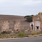 A Mansion of Yesteryear! Pioneer dwelling near Purnong, Sth. Aust. by Rita Blom