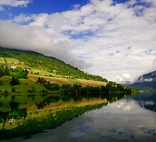 Fjord Reflections by jasonrow