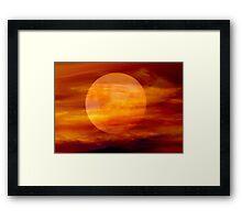 Martian Moon Framed Print