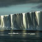 Tabular Iceberg Antarctica - sunset/sunrise by Carole-Anne