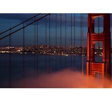 Bridge and City Photographic Print