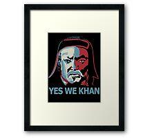 Yes We Khan Framed Print