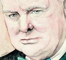 Sir Winston Churchill by morgansartworld