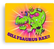 Sillysaurus! Canvas Print