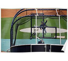 Through the Batting Cage, Yankee Stadium 2009 Poster