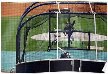 Through the Batting Cage, Yankee Stadium 2009 by John Schneider
