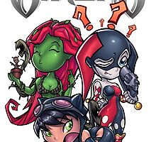 Ame Comi Gotham Sirens  by Bunleungart