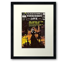 Dark Mansion Of Forbidden Love Goth Retro Design Framed Print