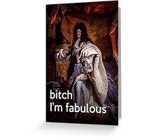 Fabulous Louis XIV Greeting Card