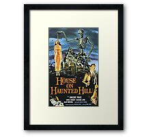 House On Haunted Hill Retro Horror Design Framed Print