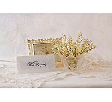 Dried Lily Of The Valley Flowers - With Sympathy Card Photographic Print