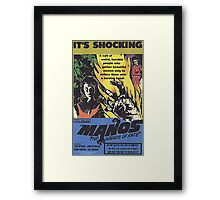 Manos Hands Of Fate Retro Horror Design Framed Print
