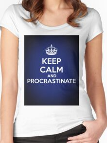 Keep Calm and Procrastinate Women's Fitted Scoop T-Shirt