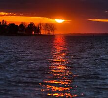 Sunset on the River by Joseph T. Meirose IV
