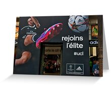 Adidas Paris Signage Greeting Card