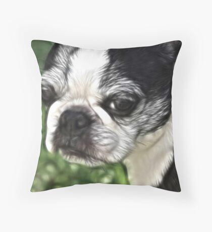 Luci in Fractalius Throw Pillow