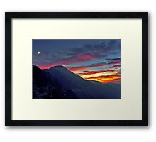 Glendora Ridge Moon Rise Framed Print