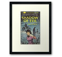 Shadow Of Evil Retro Goth Design Framed Print
