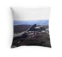 looking down from higger tor Throw Pillow