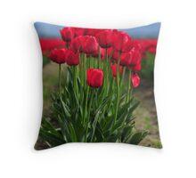Red Splendour Throw Pillow