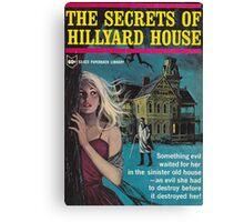 Secrets Of Hillyard House Retro Goth Design Canvas Print