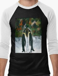 Conversing Penguins Men's Baseball ¾ T-Shirt