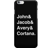 Halo Friends - White Text iPhone Case/Skin