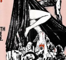 Werewolf vs Vampire Woman Retro Horror Design Sticker