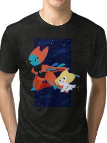 Pokemon - Jirachi and Deoxys Tri-blend T-Shirt