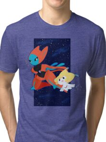 Pokemon - Jirachi and Deoxys Tri-blend T-Shirt