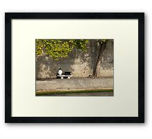 Playing To The Wall Framed Print