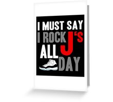 Rock JS All Day Cords Greeting Card