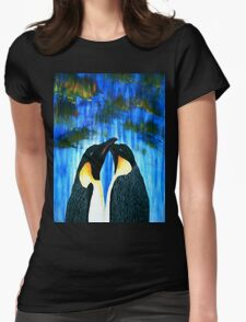Penguin Love Womens Fitted T-Shirt