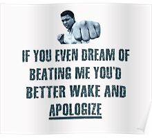 Muhammad Ali Fist Quote T Shirt Poster