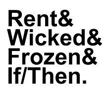 Idina Menzel Show List (Black Text) by traS(M)H Designs